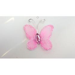 Papillon rose pale